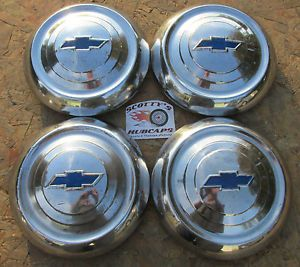 1951 1952 1953 Chevy Bel Air Styleline Fleetline Deluxe Dog Dish Hubcaps