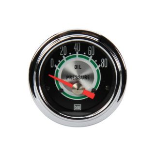 "New Stewart Warner 2 1 16"" Green Line Mechanical Oil Pressure Gauge 0 80 PSI"