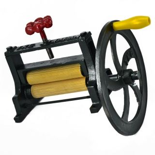 Big Sugar Cane Extractor New Mill Juicer Cast Iron Brass Hand Press Dry Squid