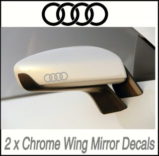 Audi Chrome Wing Mirror Decals Stickers Vinyl Mod X2