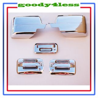 04 08 Ford F150 Chrome Door Handle Mirror Covers 2 K HS