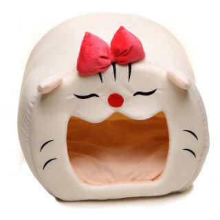 New Cute Cozy Soft Luxury Cartoon Lucky Cat Dog Pet Beds House for Small Dog Cat