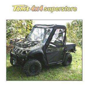 63310 01 Cab Enclosure UTV Yamaha Rhino Black Full Soft Top with Doors