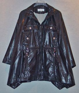 Calvin Klein Ladies Black Rain Coat Cape Poncho Size Small New with Tags
