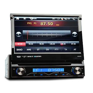 "7"" 1 DIN in Dash Car DVD Player Stereo Radio GPS Nav SAT Bluetooth iPod 2013 Map"