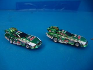 Auto World HO Scale Slot Car Set Champions Challenge Dragcar Dragstrip Parts Lot