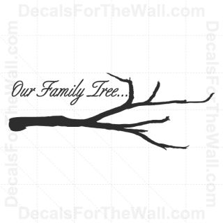 Our Family Tree Wall Decal Vinyl Art Sticker Quote Inspirational Saying F62
