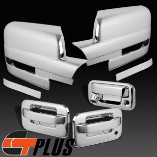 09 11 2012 Ford F150 Triple Chrome 2 Door Handle Rear Tailgate Mirror Covers Cap