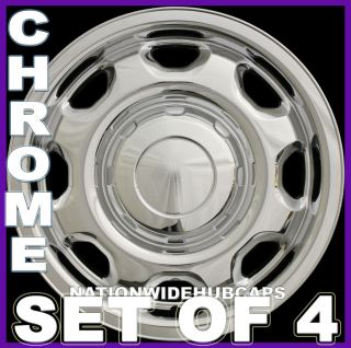"4 Ford F150 17"" Chrome Wheel Skins Hub Caps Rim Covers 6 Lug 8 Slot Steel Wheels"