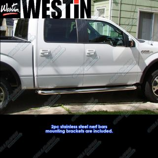 Westin 09 12 Ford F150 Supercrew Cab s s Nerf Bars