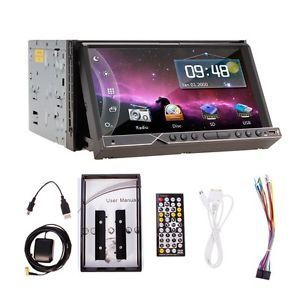 "Free Map 7"" Indash 2 DIN Car Stereo DVD Player Radio GPS Navigation 3D Bluetooth"