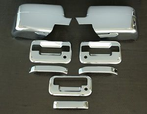 2004 2008 Ford F150 3DR Chrome Door Handle Mirror Tailgate Covers 3