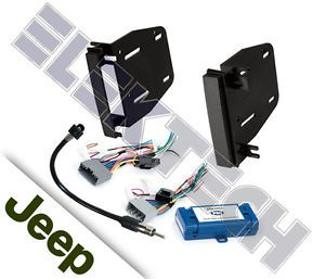 2007 2010 Jeep Wrangler Unlimited Radio Dash Mounting Kit w C2R CHY4 Interface