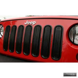 Rugged Ridge 11401 30 Billet Grille Insert Black 07 13 Jeep Wrangler