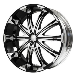20 inch Verde Avatar Black w Chrome Wheels Rims 6x5 5 Yukon Tahoe Hummer H3