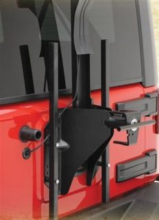 Smittybilt SRC Oversize Tire Carrier 07 13 Jeep Wrangler Unlimited 2743 Black
