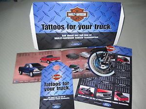 2000 Ford Harley Davidson Pickup Truck Accessories Brochure Poster Calendar Kit