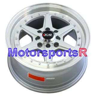 15 15x7 XXR 501 Silver Rims Wheels 4x100 06 07 08 09 11 12 13 Honda Fit Insight