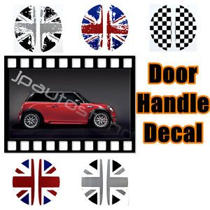 Custom Car Stickers 2 Pieces Mini Cooper s 2001 2013 Door Handle Decals