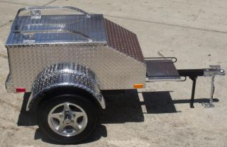 Pull Behind Motorcycle Trailer Luggage Cargo Tow w Harley Goldwing Spyder More