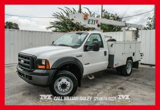 2007 Ford F 450 Bucket Truck Utility Bed Diesel Power Inverter