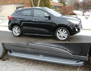 Custom Molded Running Boards 10 12 Fits Hyundai Tucson Black Factory Style Steps