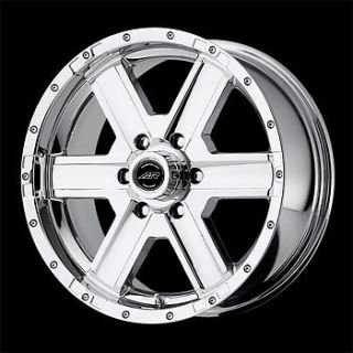 4 New 17x8 6 135 American Racing Element Chrome Wheels Rims Ford F150 Truck