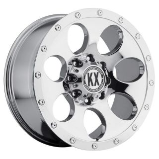 20 inch KX Offroad CP41 Chrome Wheels Rims 6x135 F150 Expedition Navigator 6 Lug