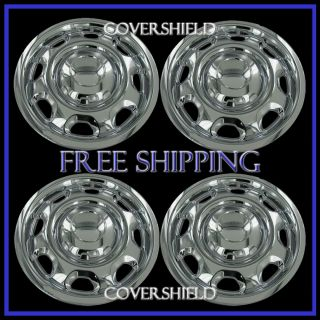 "4 PC Ford F150 17"" Chrome Wheel Skins Hub Caps Rim Covers 6 Lug Steel Wheels"