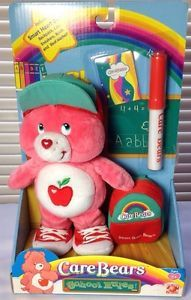 Smart Heart Care Bears Plush School Rules New in Box Backpack 2005 Marker Book