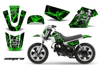 Yamaha PW50 Graphics Kit Decals Samurai GB