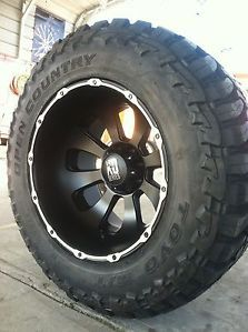 22x14 8x170 Black Rims Tires Ford F250 350 40 15 50 22 Toyo Open Country