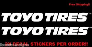 2X Toyo Tires Wheels Bumper Truck Rim Rims Caps Car Window Decal Sticker 6""