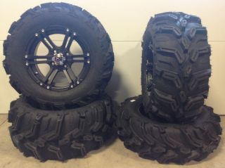 "ITP SS212 14"" Wheels Black 27"" Mud Lite XTR Tires Polaris Sportsman RZR Ranger"