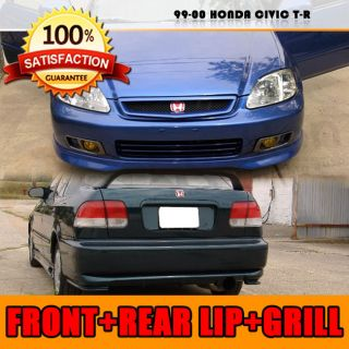 99 00 Honda Civic 2 4D T R Front Rear Bumper Lip Grill