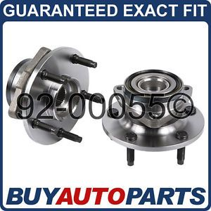 Pair Dodge RAM 1500 4x4 Front Wheel Hub Bearings New