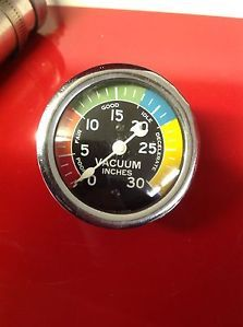"Vintage Stewart Warner Crescent 2 5 8"" Vacuum Gauge Dash Hot Rod Scta"