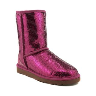 Womens UGG® Classic Short Sequin Boot , Fuchsia