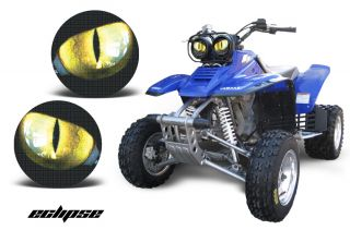 AMR Racing Head Light Eyes Graphic Decal Yamaha Warrior 350 ATV Parts Eclipse
