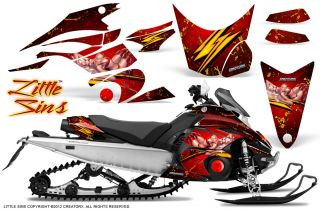 Yamaha FX Nytro 08 12 Snowmobile Sled Graphics Kit Creatorx LSR