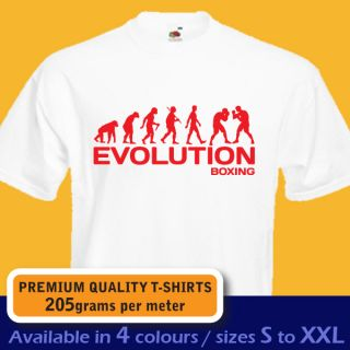 Boxing Evolution Boxer Fight Funny T Shirt Mens Womens Boys Girls Birthday Gift