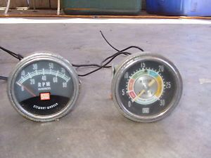 Vintage Stewart Warner Tach Vacuum Gauges Chevy Ford Dodge Truck RPM V8 SBC