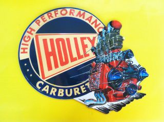 Holley Carburetor Tin Metal Sign Great for Garage Body Shop or Man Cave
