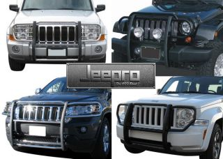Brand New Black Grille Saver Bumper Brush Guard 05 10 Jeep Grand Cherokee