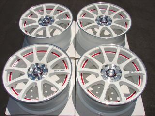 "15"" White Effect Wheels Rims 4x100 galant Altima Versa Volvo S40 Integra Jetta"