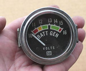"Vintage SW Stewart Warner Volt Gauge Racing Hot Rod ""Batt"" ""CHG"" 10 16 Volts"