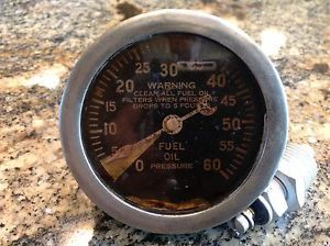 "Original 1940's Stewart Warner Fuel Oil Pressure Cresent Pointer 2 5 8"" Gauge"