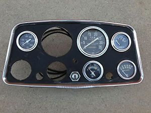 Vintage Classic Hollywood Stewart Warner Dash Board w Gauges Hot Rat Rod Gasser