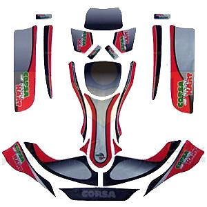 Corsa Racing Kart Graphics Kit KG EVO 11 Haase Go Kart Sticker Kit