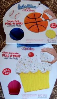Roshco Holiday Pull Apart Cupcake Cake Pan Silicone Shaped Birthday Mold New